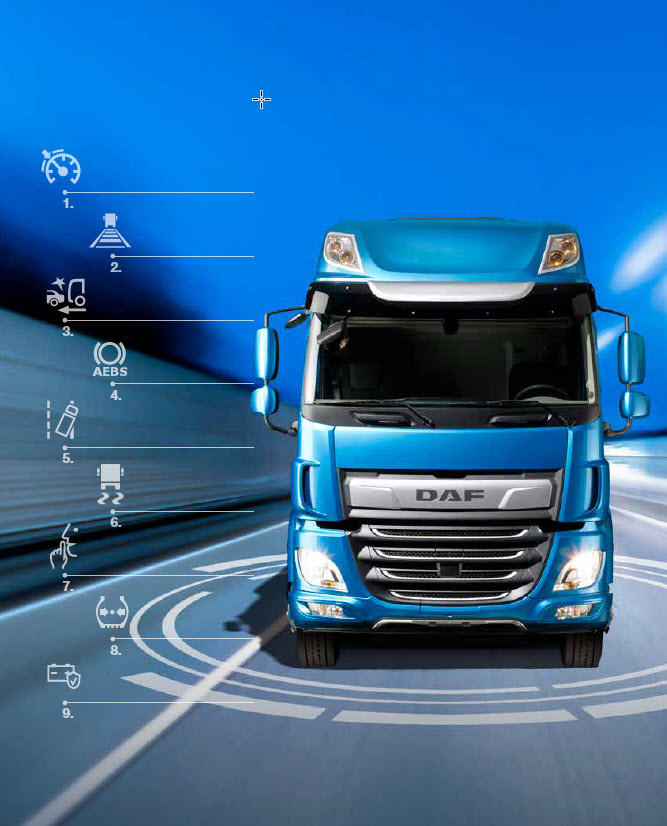 DAF CF safety and comfort systems
